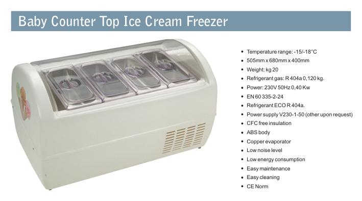 Countertop Ice Cream Freezer : Goldline industries refrigeration display cases ice cream freezers